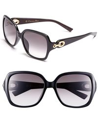 Dior Christian 57Mm Sunglasses - Lyst