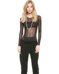 By Malene Birger - Filosyfi Long Sleeve Bodysuit - Black - Lyst