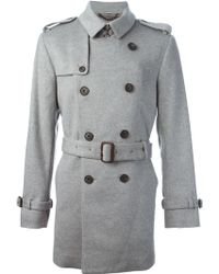 Burberry London Mid-Length Trench Coat - Lyst