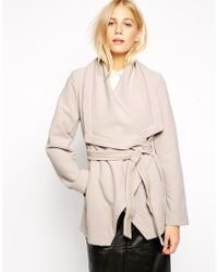 Oasis Short Wrap Coat - Lyst