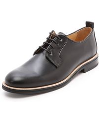 Carven Pull Leather Derby Shoes - Lyst