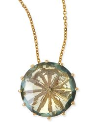 KALAN by Suzanne Kalan - 12mm Round Green Envy Topaz Pendant Necklace - Lyst