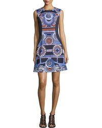 Peter Pilotto | Circle-Print Crepe Dress  | Lyst