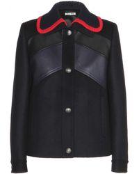 Miu Miu Red Wool Jacket - Lyst