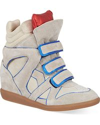 Isabel Marant Wila Suede Wedge Trainers - For Women - Lyst