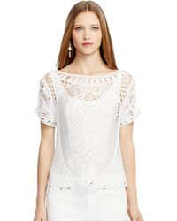 Ralph Lauren Black Label Macram Talia Top - Lyst