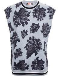 MSGM Floral Sleeveless Sweatshirt - Lyst