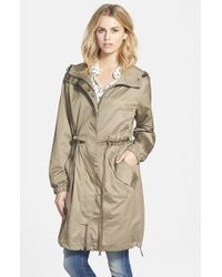 Vera Wang Oversized Hooded Coat - Lyst