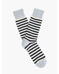 Etiquette Mens Abbey Stripe Socks - Lyst