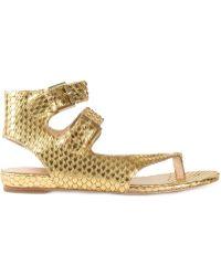 Ash Gold 'Opium' Sandals - Lyst