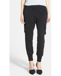 James Jeans Slouchy Utility Cargo Pants black - Lyst