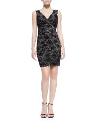 Nicole Miller Sleeveless Scroll Lace Cocktail Dress - Lyst