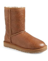 Ugg 'Triana' Perforated Boot brown - Lyst