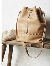 Free People Tempest Bucket Bag beige - Lyst