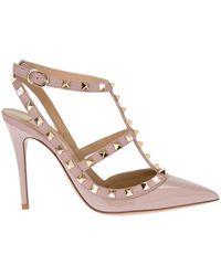 Valentino 'Rockstud' Pumps pink - Lyst
