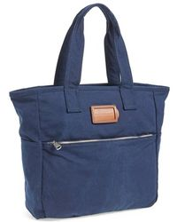 Marc By Marc Jacobs Men'S 'Take Us Homme' Square Canvas Tote - Blue - Lyst