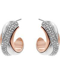 Swarovski Wave Pierced Earrings - Lyst