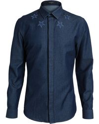 Givenchy Stars Denim Shirt - Lyst