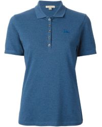 Burberry Brit Reversible Check Sleeves Polo Shirt - Lyst