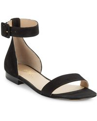 424 Fifth - Chantella Textured Leather Sandals - Lyst