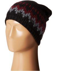 John Varvatos Chevron Knit Slouchy Hat - Lyst