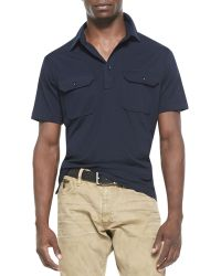 Ralph Lauren Black Label Cotton Military Polo - Lyst