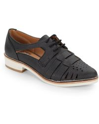 Dolce Vita Faux Leather Cut-Out Oxfords - Lyst