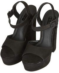 Topshop Womens Lopez Platform Sandals  Black - Lyst