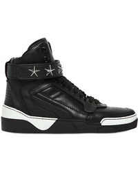 Givenchy Tyson Two Tone Leather High Top Sneakers - Lyst