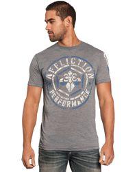 Affliction Mens Buildup Graphic T-Shirt-2XL