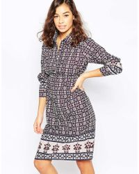 Diya - Shirt Dress In Kaleidoscope Print - Lyst