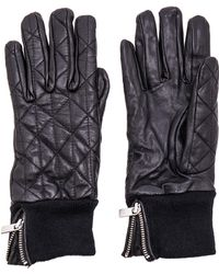 Maison Scotch - Leather Quilted Gloves - Lyst