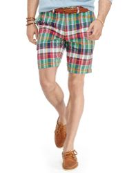 Polo Ralph Lauren Straight-Fit Madras Short - Lyst