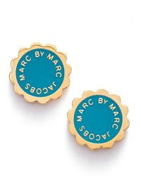 Marc By Marc Jacobs Scalloped Disc Stud Earrings - Lyst