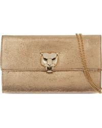Roberto Cavalli Panther Clasp Clutch Bag - For Women - Lyst