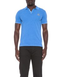 DSquared2 Embroidered Cotton Polo - Lyst