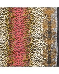 River Island Brown Leopard and Baroque Print Scarf - Lyst