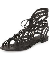 Joie Renee Lace-Up Gladiator Sandal black - Lyst