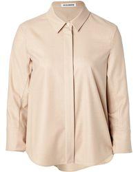 Jil Sander Stretch Wool Flannel Shirt - Lyst