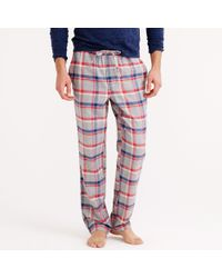 J.Crew Flannel Pajama Pant in Red Plaid - Lyst