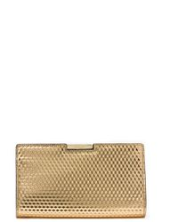 Milly Geo Frame Clutch gold - Lyst
