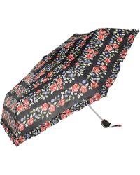 River Island - Black Floral Print Umbrella - Lyst