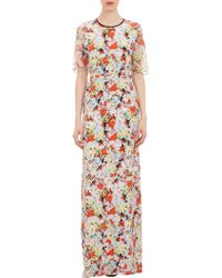 Erdem Floralprint Shortsleeve Dress - Lyst
