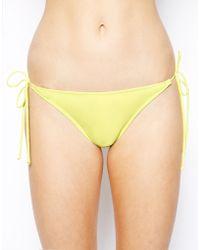 Asos Mix and Match Micro Brazilian Tie Side Bikini Pant - Lyst