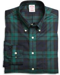 Brooks Brothers Non-iron Regular Fit Black Watch Sport Shirt - Lyst
