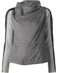 Yigal Azrouel Asymmetrical Zip Jacket - Lyst