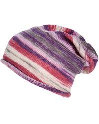 Echo - Slouchy Ombre Stripe Beanie - Purple - Lyst