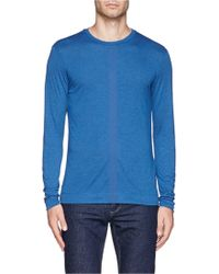 Armani Centre Stripe Jersey T-Shirt - Lyst