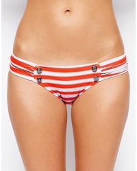 Seafolly Seaview Ruched Side Bikini Briefs - Lyst