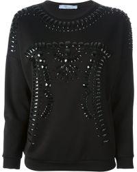 Blumarine Embellished Sweatshirt - Lyst